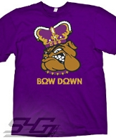 Bow Down, Purple Screen Printed T-Shirt