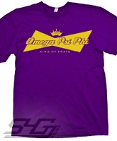 Omega Psi Phi King of Frats Screen Printed T-Shirt, Purple