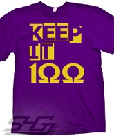 Keep It 100 Screen Printed T-Shirt (Omega), Purple