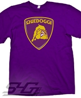 Quedoggi Lambourghini-Style Logo, Purple Screen Printed T-Shirt