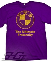 Omega Psi Phi - The Ultimate Fraternity, Purple Screen Printed T-Shirt