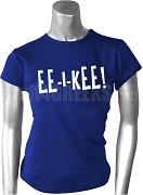 Zeta Phi Beta EE-I-KEE Screen Printed T-Shirt, Royal Blue