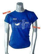 Zeta Legazy Screen Printed T-Shirt, Royal Blue