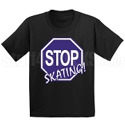 Stop Skating! Screen Printed T-Shirt, Royal/White