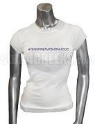 Zeta Phi Beta Tweet Team Screen Printed T-Shirt, White