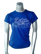 Zeta Phi Beta Till I Die Screen Printed T-Shirt, Royal Blue