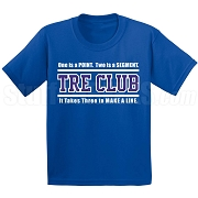 Zeta Phi Beta Tre Club (Gen1) Screen Printed T-Shirt, Royal