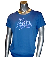 Zeta Till I Die Screen Printed T-Shirt, Royal