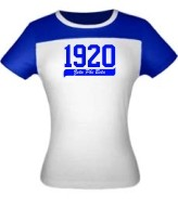 1920 Zeta Phi Beta Ladies Fitted Screen Printed Tee
