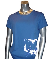 Zeta Phi Beta Mascot #2 Screen Printed T-Shirt, Royal