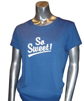 So Sweet! Screen Printed T-Shirt, Royal