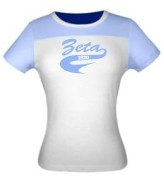 Zeta 1920 Ladies Fitted Screen Printed Tee