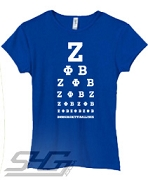 Z-Phi-B Is All I See, Royal Screen Printed T-Shirt