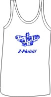 Zeta Phi Beta Dove Ladies Tank, White