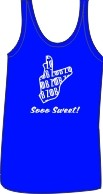 Zeta Phi Beta Kitty Ladies Tank, Royal