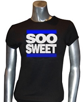 Soo Sweet RUN DMC, Black Screen Printed T-Shirt