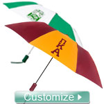 Custom Greek Umbrella for Any Fraternity or Sorority - EMBROIDERED with Lifetime Guarantee (AZ)