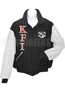 Knights Fraternity, Inc. Varsity Letterman Jacket with Crest, Black/White