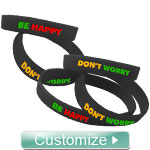 Personalized Silicone Wristbands (Sold in Sets of 5)