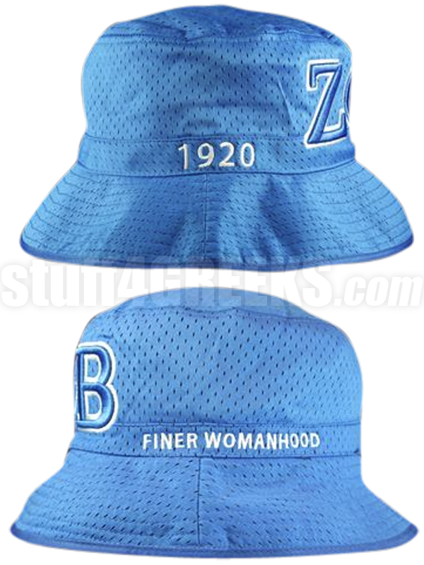 bc2a9ae07bb Description  Customer Reviews. Description. Royal Blue Zeta Phi Beta floppy  hat with the Greek letters and founding year ...
