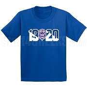 Zeta Phi Beta Screen Printed T-Shirt with Crest and Founding Year, Royal Blue