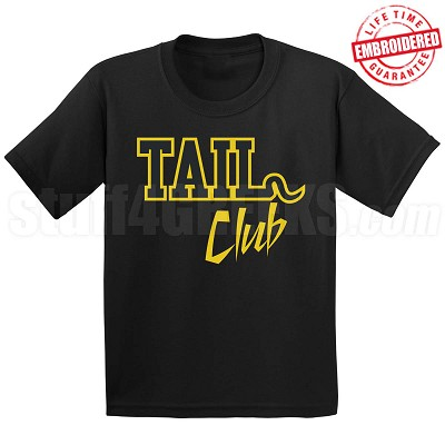 Tail Club Black/Old Gold T-Shirt - EMBROIDERED with Lifetime Guarantee
