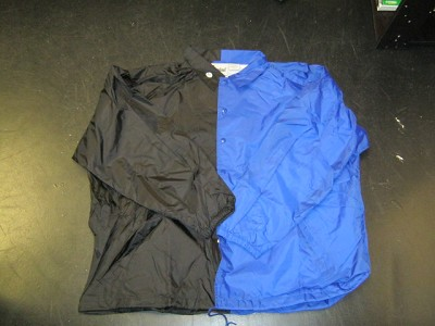 Clearance: Black/Royal Blue Two-Tone Coaches Jacket, Size 4XL, Blank