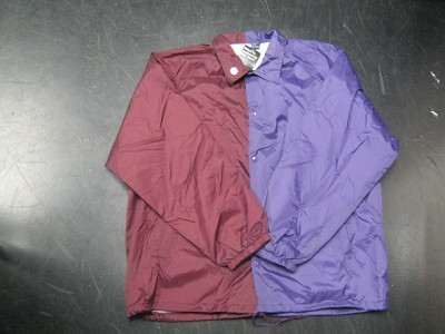 Clearance: Burgundy/Purple Two-Tone Coaches Jacket, Size 2XL, Blank