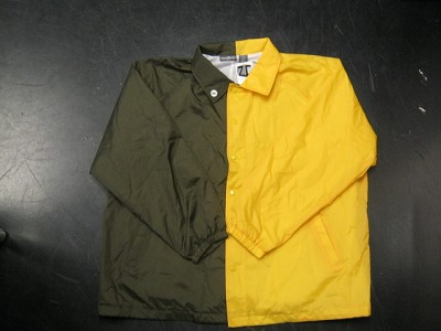 Clearance: Brown/Yellow Gold Two-Tone Coaches Jacket, Size 3XL, Blank