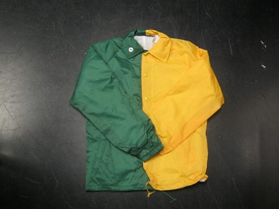 Clearance: Forrest Green/Yellow Gold Two-Tone Coaches Jacket, Size SMALL, Blank