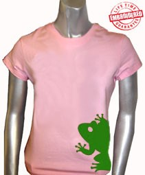 AKA Mascot T-Shirt, Pink - EMBROIDERED with Lifetime Guarantee
