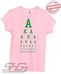 AKA Is All I See, Pink - EMBROIDERED with Lifetime Guarantee