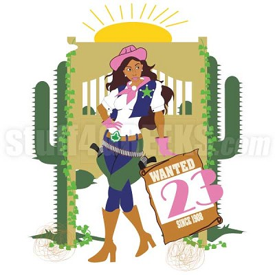 Alpha Kappa Alpha Cowgirl Patch