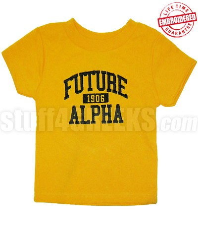 Future Alpha Phi Alpha T-shirt, Gold - EMBROIDERED with Lifetime Guarantee