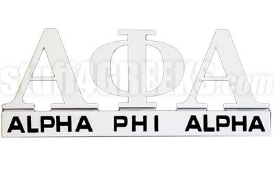Alpha Phi Alpha Chrome Greek Letters Car Decal (NS)