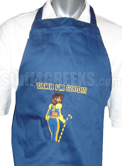 Sigma Gamma Rho Damn I'm Good Apron, Royal Blue