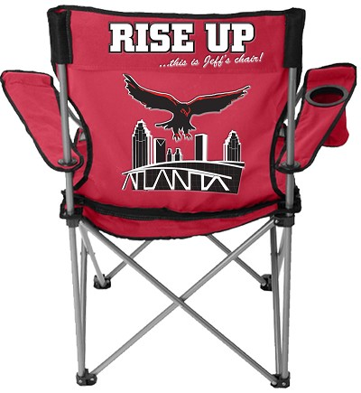 Atlanta Football Lawn Chair, Red – EMBROIDERED WITH LIFETIME GUARANTEE
