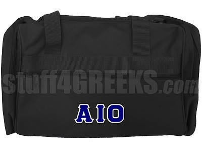 Alpha Iota Omicron Greek Letter Duffel Bag, Black