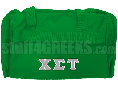 Chi Sigma Tau Duffel Bag, Kelly Green