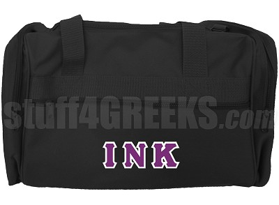Iota Nu Kappa Duffel Bag, Black