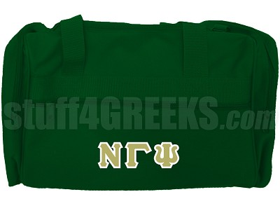 Nu Gamma Psi Duffel Bag, Forest Green