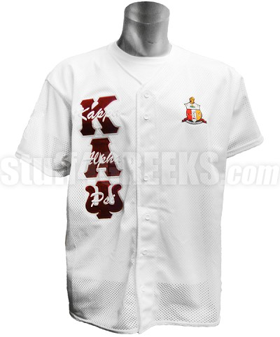 65f4843acad thumbnail.asp file assets images baseball-jerseys  kappa-alpha-psi-letter-thru-crest-shield-baseball-jersey -white.jpg maxx 400 maxy 0