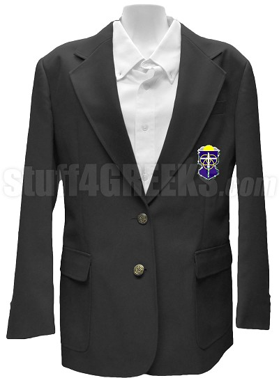 Alpha Omega Epsilon Blazer Jacket with Crest, Black