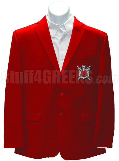 Alpha Omega Theta Blazer Jacket with Crest, Red