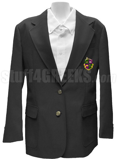 Alpha Rho Lambda Blazer Jacket with Crest, Black