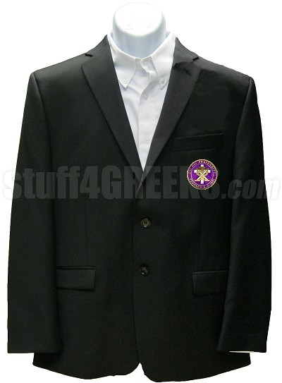 Chi Psi Blazer Jacket with Crest, Black