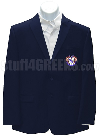 Delta Sigma Iota Blazer Jacket with Crest, Navy Blue