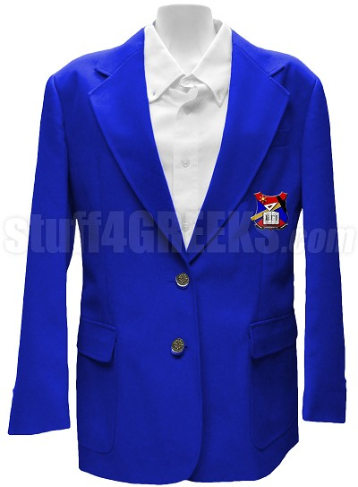 Epsilon Gamma Iota Ladies' Blazer Jacket with Crest, Royal Blue