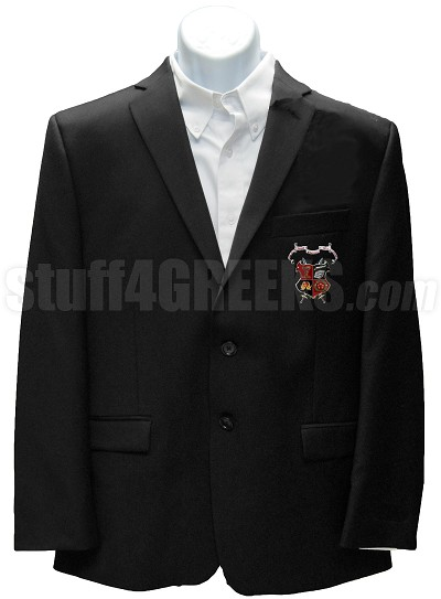 Gamma Beta Chi Blazer Jacket with Crest, Black