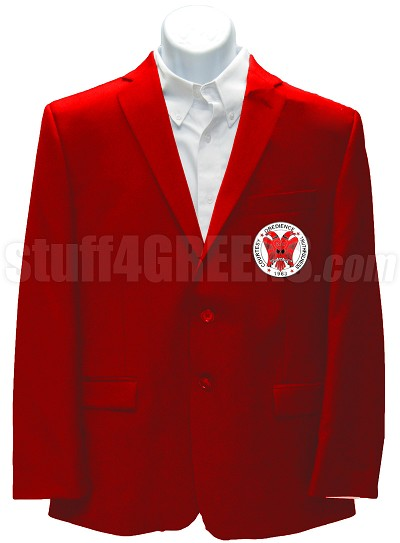 Gamma Epsilon Omega Blazer Jacket with Crest, Red
